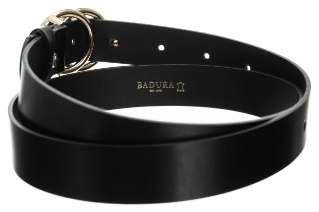 Badura® elegancki skórzany damski pasek skóra 30 mm