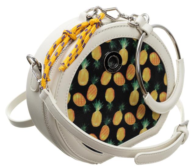 Monnari® oryginalna okrągła torebka damska listonoszka ananasy