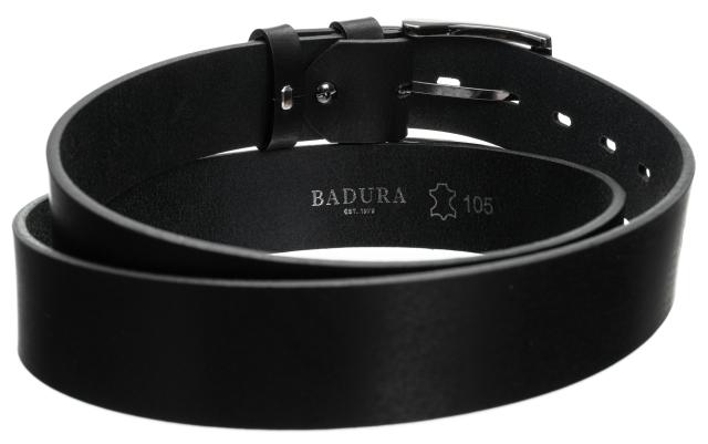 Badura®, elegancki skórzany pasek, skóra licowa 100-120 cm, 30 mm