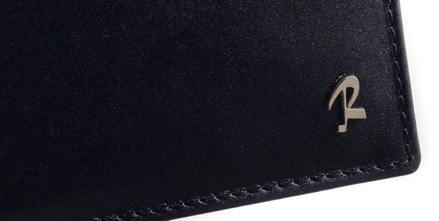 Klasyczny portfel męski ze skóry bydlęcej czarny