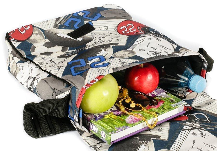 Loren® materiałowa torebka listonoszka damska klapka